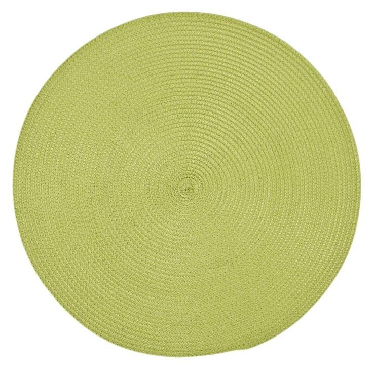 Zelené prostírání stolu kruhového tvaru