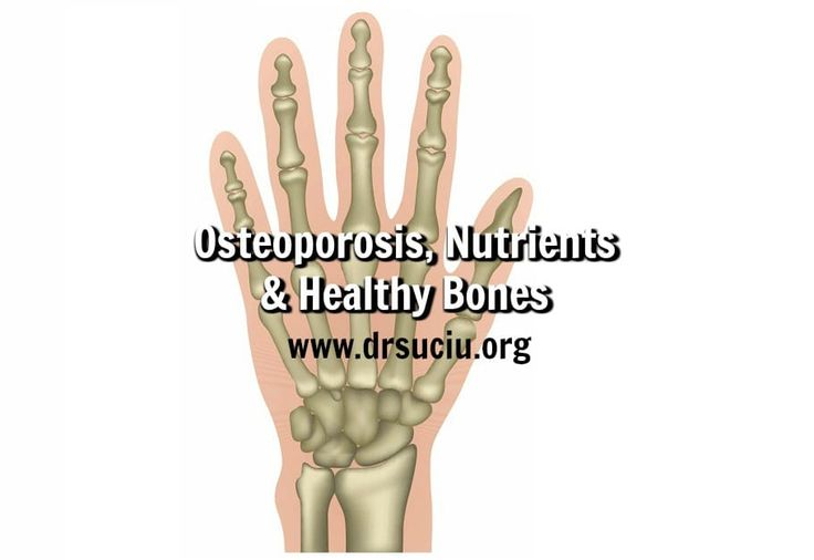 Picture Osteoporosis - Nutrients - Healthy Bones - drsuciu