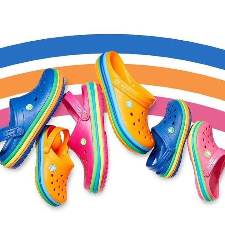 Meet the Crocs Crocband Collection 18   Positive & colorful vibes all around   Available in stores & on the e-shop   http://bit.ly/Crocband_Collection