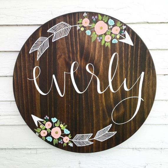 Custom Name Sign Custom Sign Wood Sign Rustic by palaceandjames