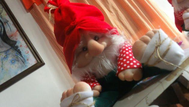 Duende en soft duendes y moldes pinterest duendes for Gnomos navidenos