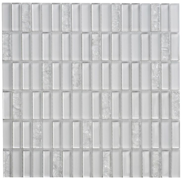 Faber Jayda Crackled Ice Glass Mosaic Wall Tile (Common: 12-In x 12-In; Actual: 12-in x 12-in) | Lowe's Canada