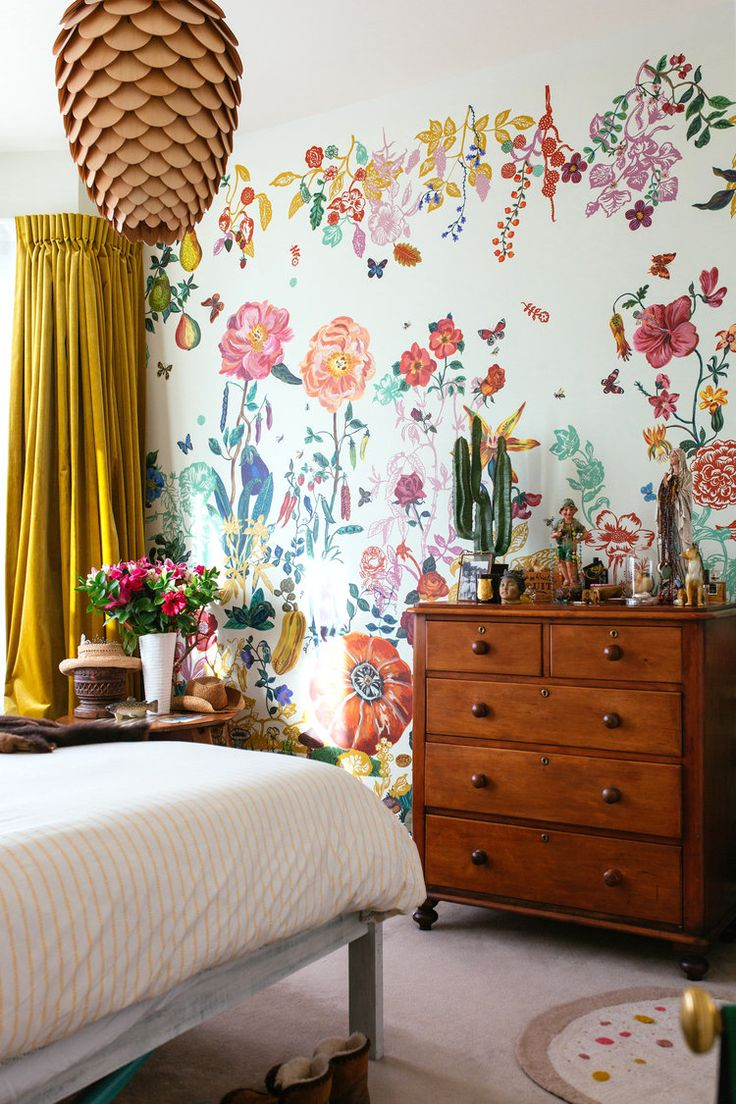Interior by esdesign, Wellington, NZ.  Wallpaper by Nathalie Lete.