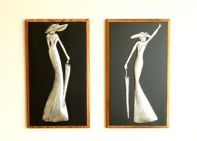 Pewter Wall Art Deco Ladies  £45.00