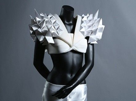 Origami can also be used to make avant-garde fashion creations, such as this one by Czech designer Hana Coufalova. http://edition.cnn.com/2014/05/30/world/astonishing-origami-exhibit/index.html?iref=allsearch