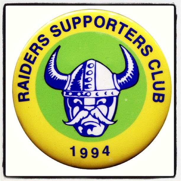 Canberra Raiders Supporters Club badge 1994