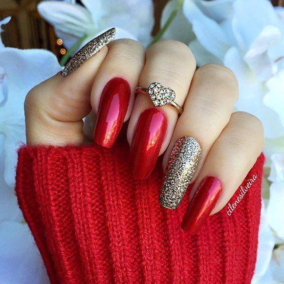 Beautiful nails 2016, Bright shellac, brilliant nails, Evening dress nails…