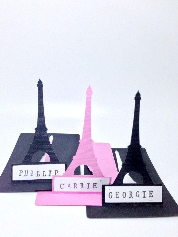 #eiffel #paris #wedding   OMG Eiffel Tower place cards <3