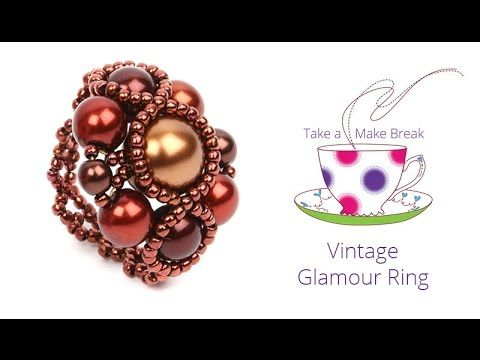 Vintage Glamour Ring | Take a Make Break with Beads Direct