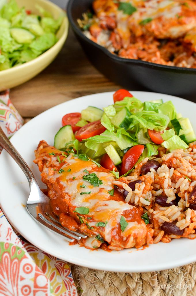 Slimming Eats Low Syn Spicy Mexican Chicken and Rice - gluten free, slimming world and weight watchers friendly