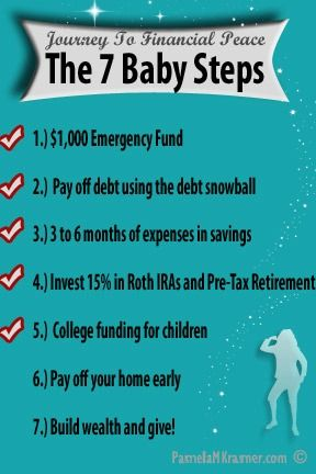 Dave Ramsey Baby Steps I swear to you this works if you go step by step because of Dave Ramsey's Baby Steps I am almost out of student loan debt