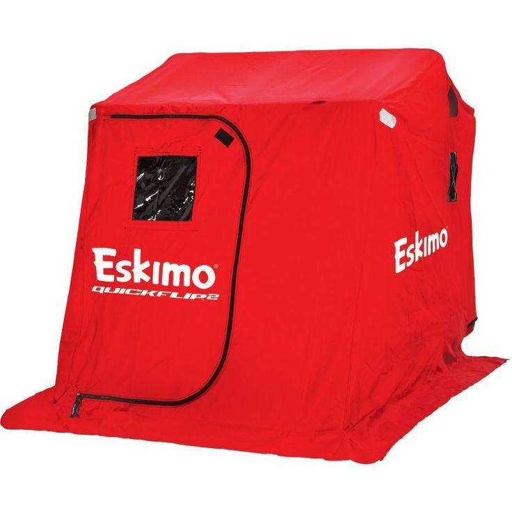 Eskimo QuickFlip 2 Person Ice (White) Fishing Shelter