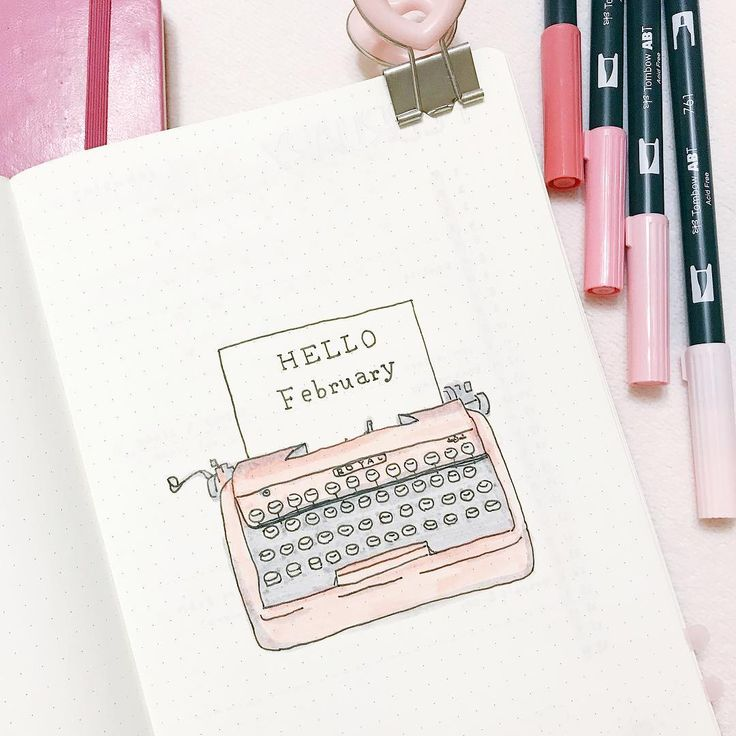"Gefällt 236 Mal, 11 Kommentare - Faye (@bujo_cupcake) auf Instagram: ""This's my cover page for February. Just for reminding, you'll see lots of pink spreads from my post…"""