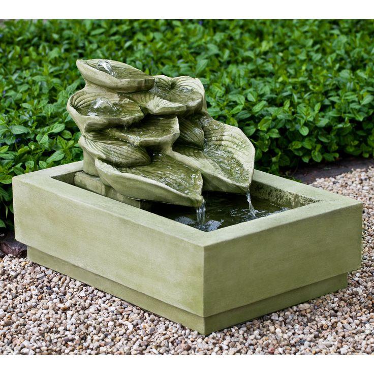 Cascading Hosta Garden Water Fountain