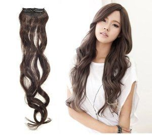 64 best curly hair extensions images on pinterest close to one fashionable 17 dark brown long curly wavy synthetic clip on hair extension pmusecretfo Choice Image