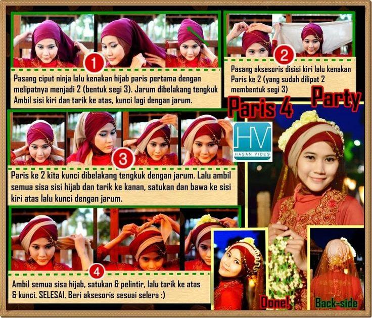 Pintar Pakai Jilbab: DIY Tutorial Hijab Paris untuk Pesta, Pengantin, Wisuda dan Walimah by Didowardah - Bagian #25