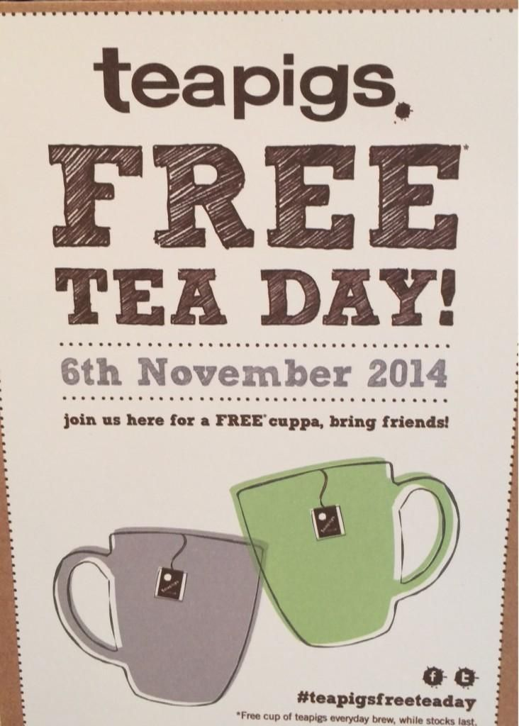 Trents Cafe gave away a 100 cups of free tea! Wow! #teapigsfreeteaday