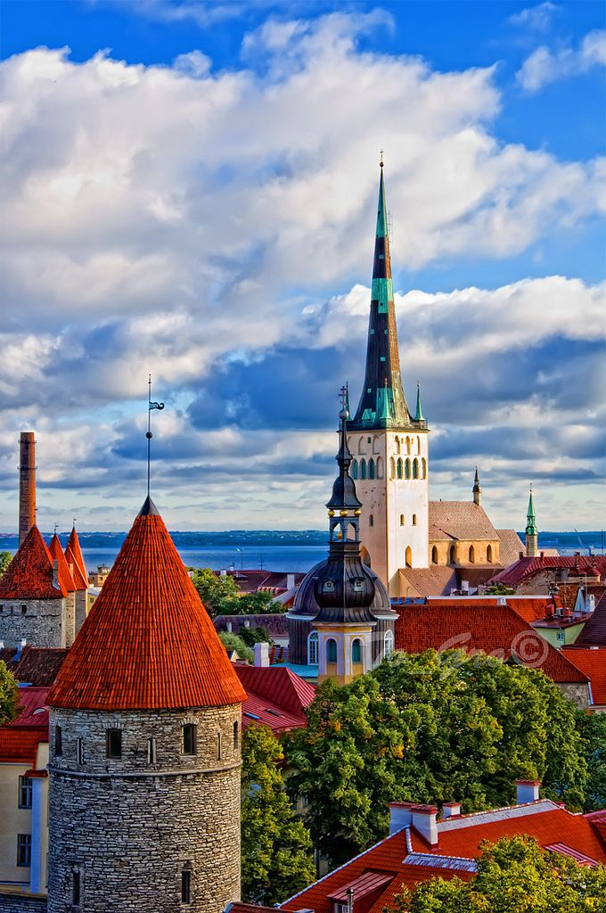 Tallin, Estonia - clear northern light and flat horizon. Would love to visit the land in which my grandmother was raised.