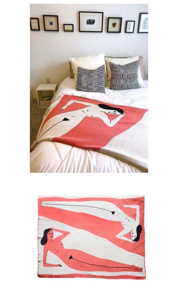 Linens Bedding Coral Lounging Lady Blanket In 2019 Textiles