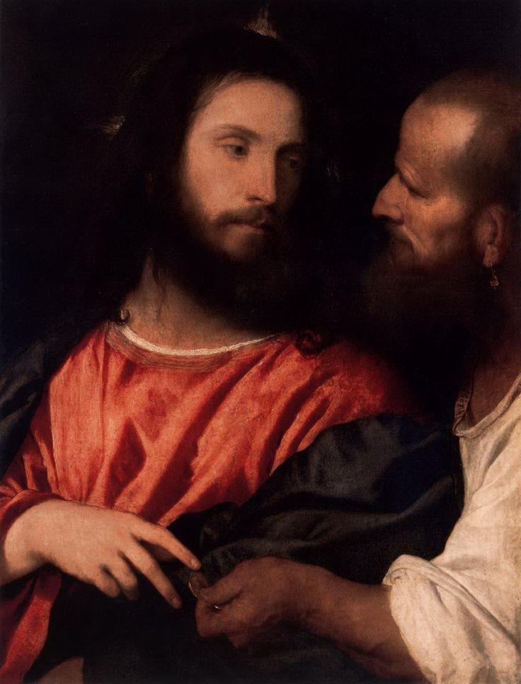 (Tiziano Vecellio) Titian: [Cristo della moneta] 1516