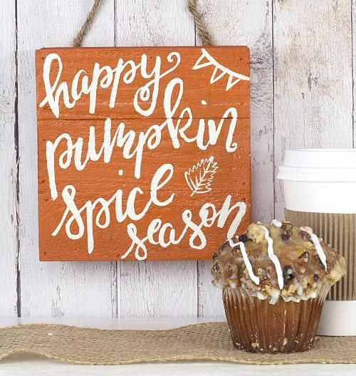 Pumpkin Spice Season Wooden Sign - Project by DecoArt