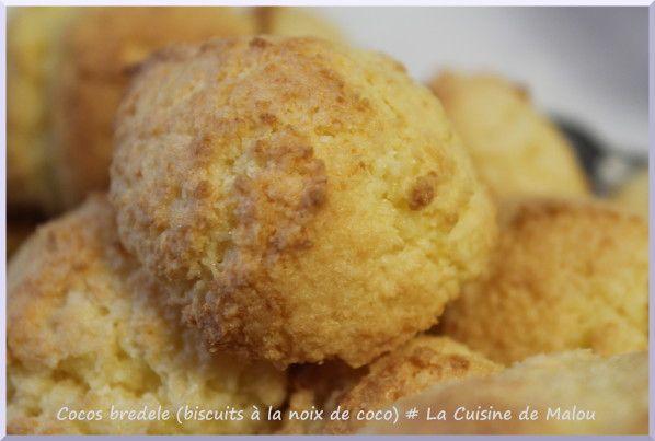 Dans la catégorie biscuits de noël (Bredele), je demande les cocos bredele (les biscuits à la noix de coco)