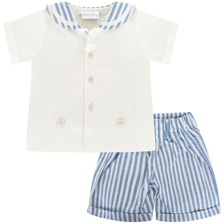 Rachel Riley Baby Boys Sailor Shirt & Shorts Set