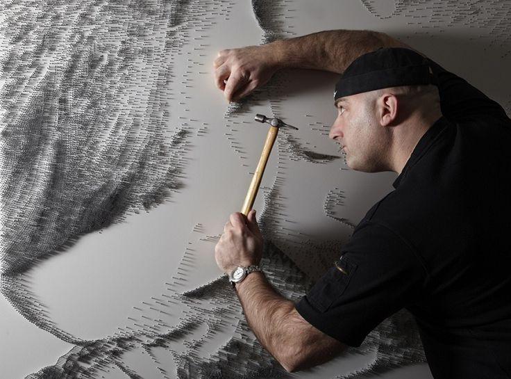Marcus Levine Creates Stunning Figurative Nail Sculptures