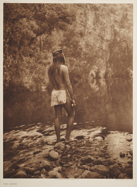 The Apache    c. 1907-1930.  Photographer: Edward S. Curtis, but no name or location