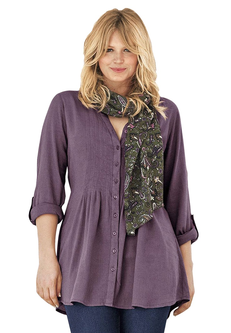 Pintuck Tunic Blouse