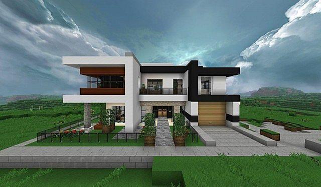 Modern house minecraft project minecraft pinterest for Minecraft haus modern