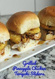Grilled Pineapple Ch Grilled Pineapple Chicken Teriyaki Sliders....  Grilled Pineapple Ch Grilled Pineapple Chicken Teriyaki Sliders. Game day just wouldnt be complete without these Grilled Pineapple Chicken Teriyaki Sliders! Theyre a crowd-pleasing handheld appetizer! Plus get your home ready to host with the help of some essentials that I cant wait to tell you about today! #HomegatingHeroes #ad Recipe : http://ift.tt/1hGiZgA And @ItsNutella  http://ift.tt/2v8iUYW