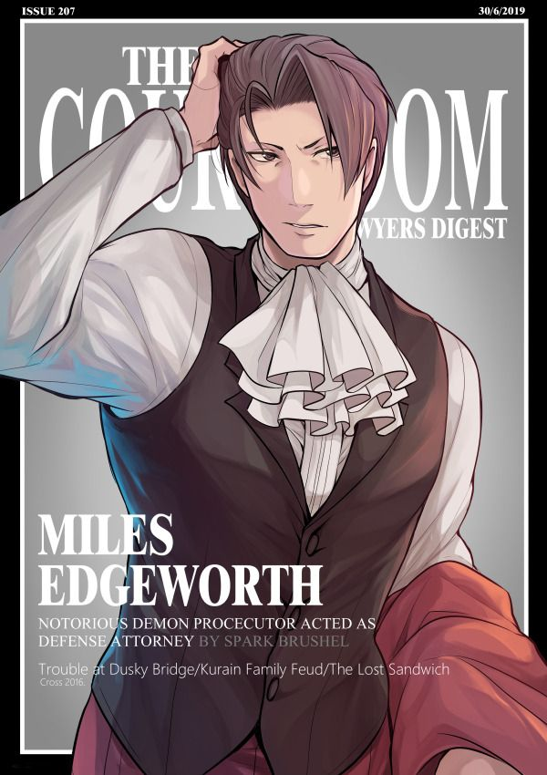 Ace Attorney Miles Edgeworth Ace Attorney Phoenix Wright