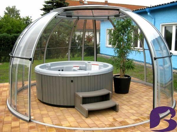 Whirlpool Im Garten Gonnen Sie Sich Diese Besonde Art Entspannung Pool Im Garten Viereckig Hot Tub Gazebo Hot Tub Garden Outdoor Spa