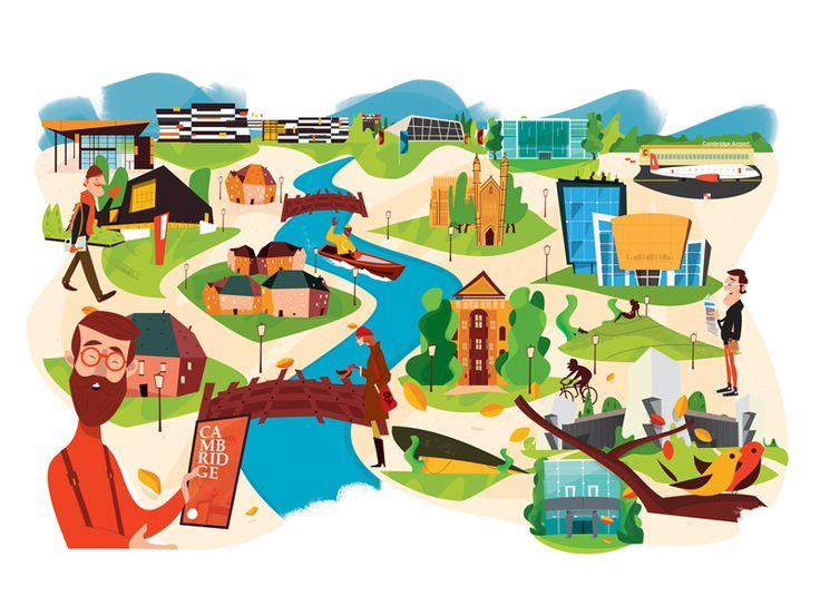 Cambridge map | Illustrator: Laszlito Kovacs