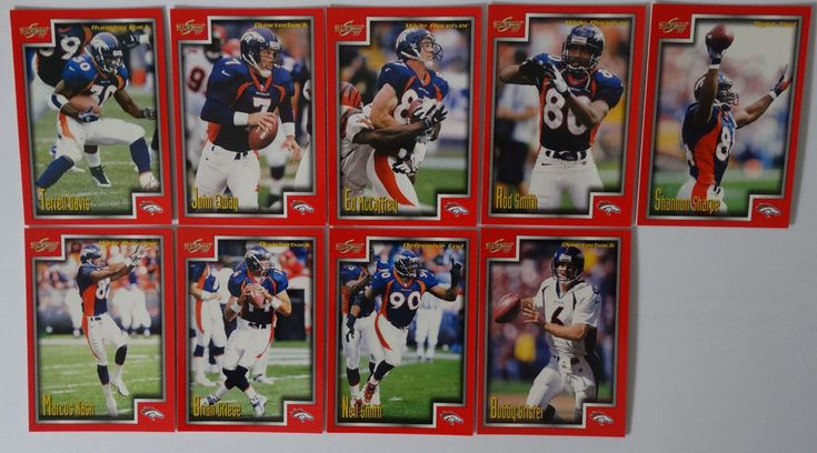 1999 Score Series 1 Denver Broncos Team Set of 9 Football Cards #DenverBroncos https://www.fanprint.com/licenses/denver-broncos?ref=5750