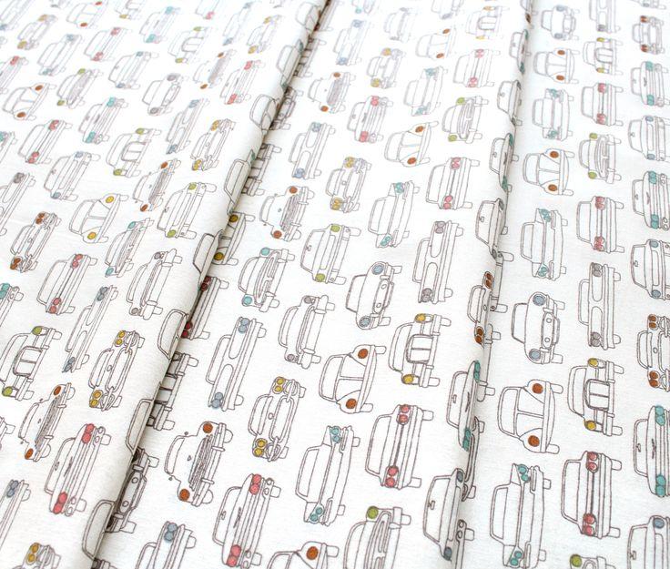 Birch Fabrics Trans Pacific Headlamps Cream