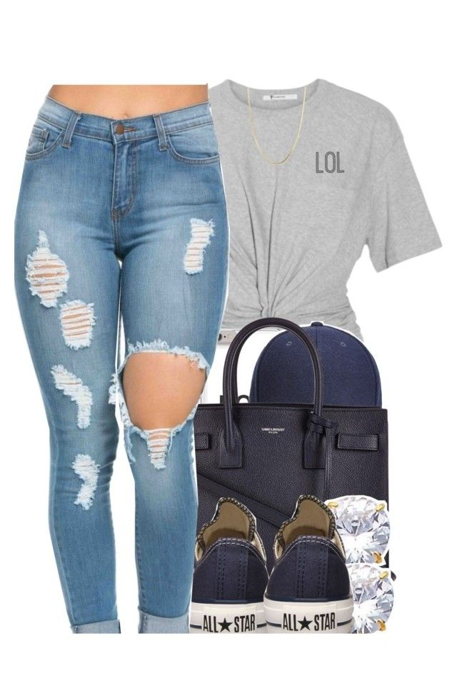 """""""royalty made it"""" by yeauxbriana ❤ liked on Polyvore featuring Whistles, Yves Saint Laurent, Converse and Giani Bernini"""