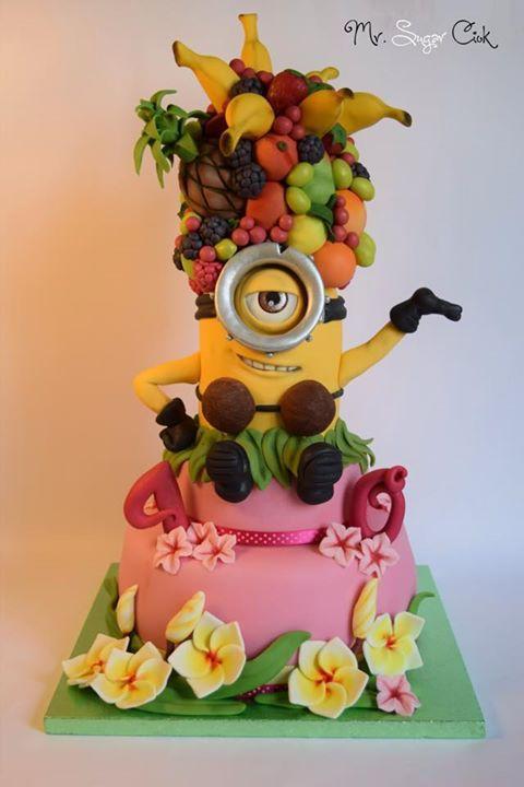 Fun Minion Cake Art | Mr Sugar Ciok