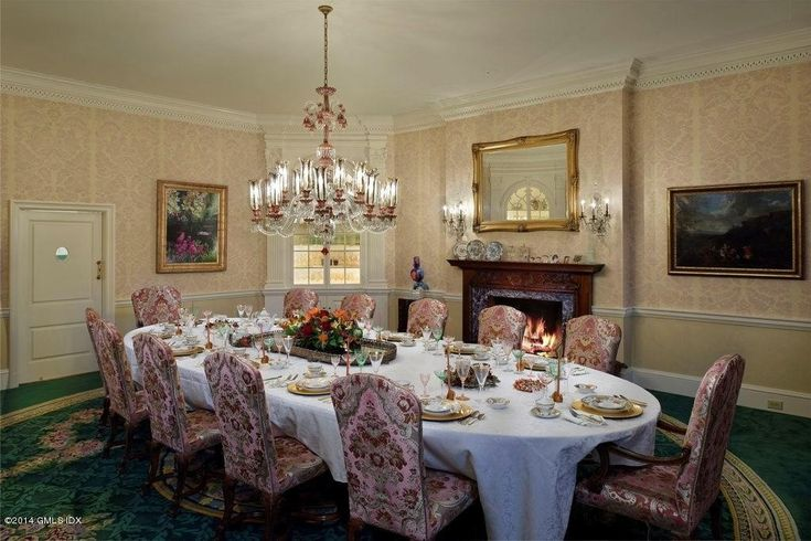 Donald Trump house elegant dining room - zillow blog