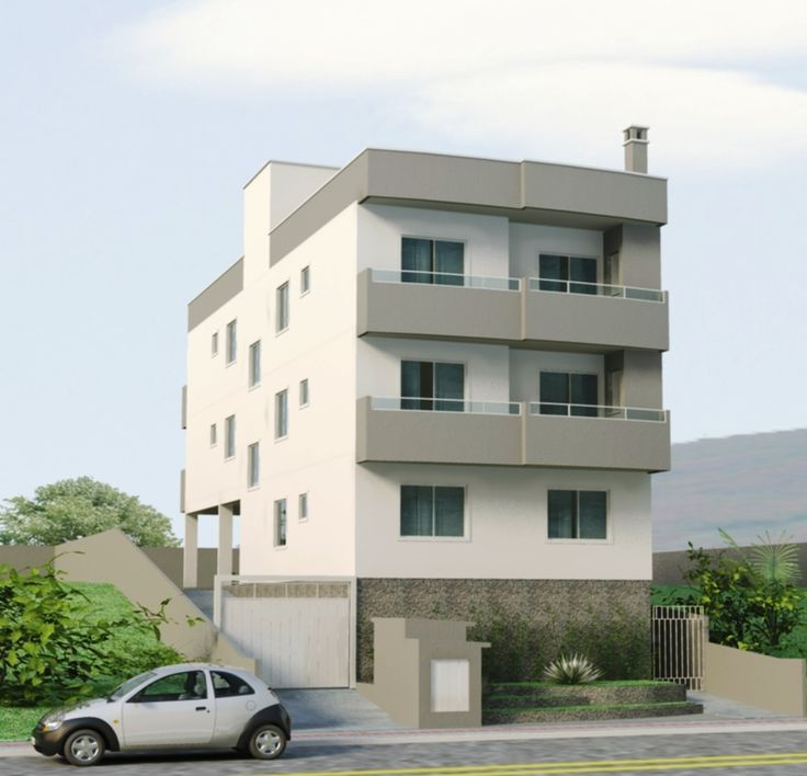 Fachadas de pr dios residenciais pequenos pesquisa for Fachadas apartamentos modernos