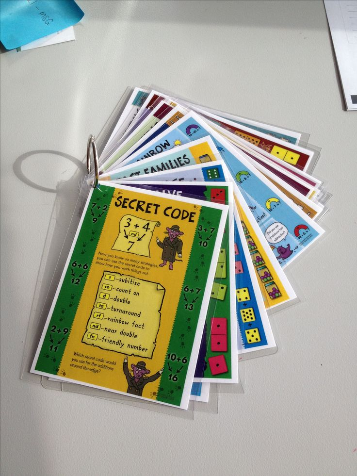 Natural Maths strategies posters A6 in size and put on a ring for children to access as needed!!