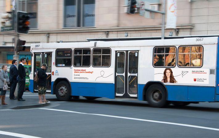 CSU bus advertisements