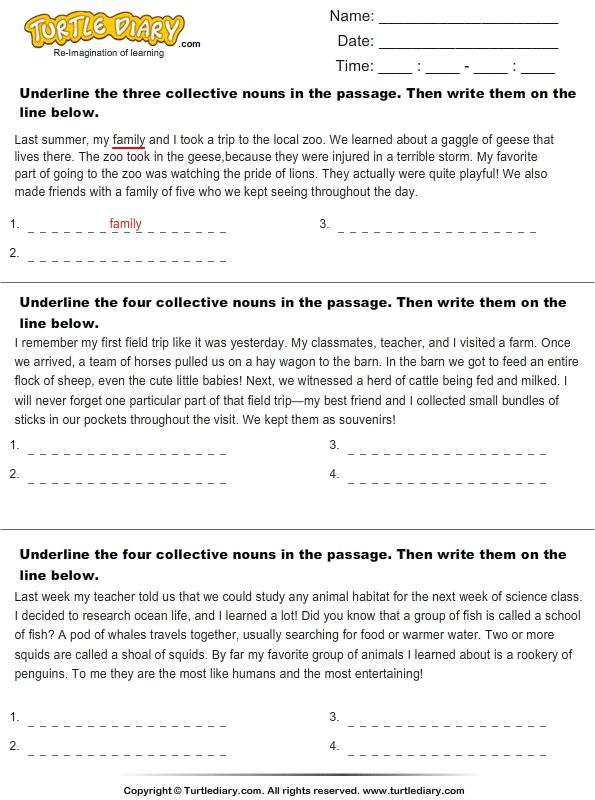 17 best ideas about Collective Nouns Worksheet on Pinterest | Easy ...