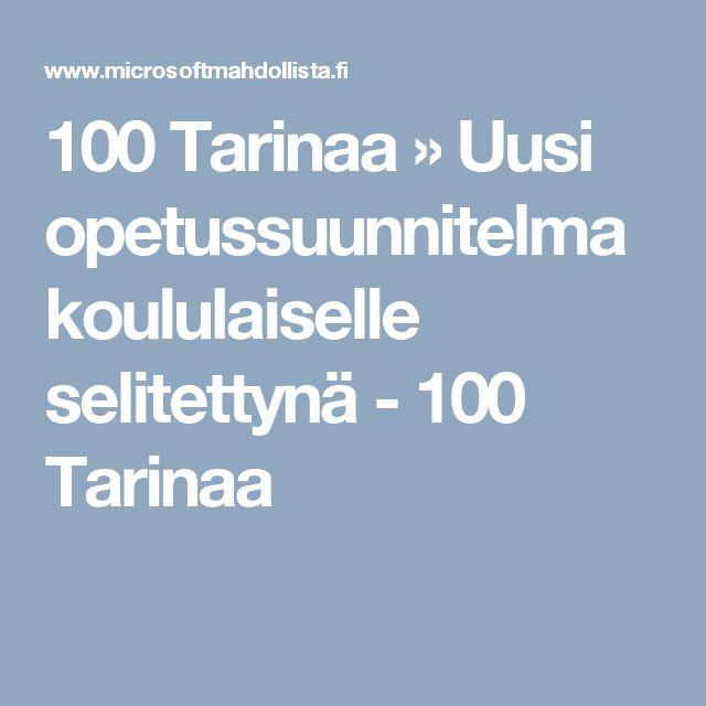 100 Tarinaa » Uusi opetussuunnitelma koululaiselle selitettynä - 100 Tarinaa