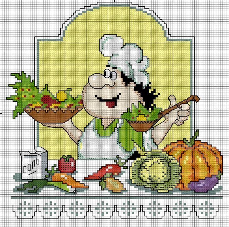 566 fantastiche immagini su punto croce cucina su for Immagini punto a croce