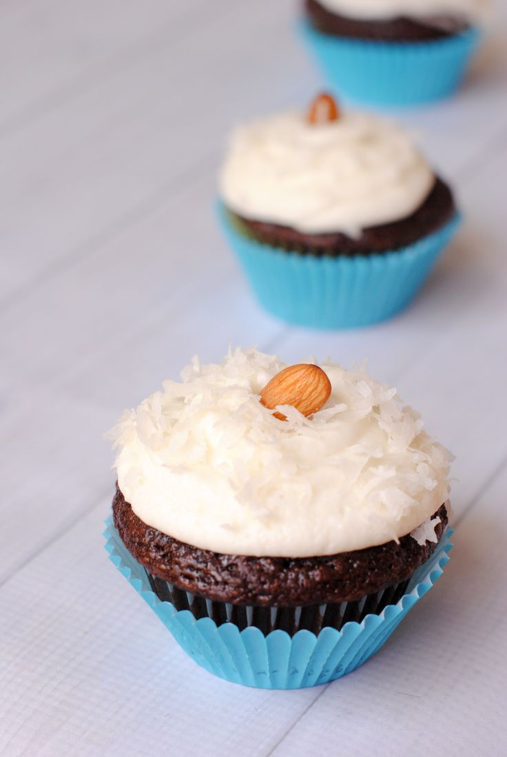 Chocolate Coconut Cupcakes-these are amazing! Like Almond Joy but better!