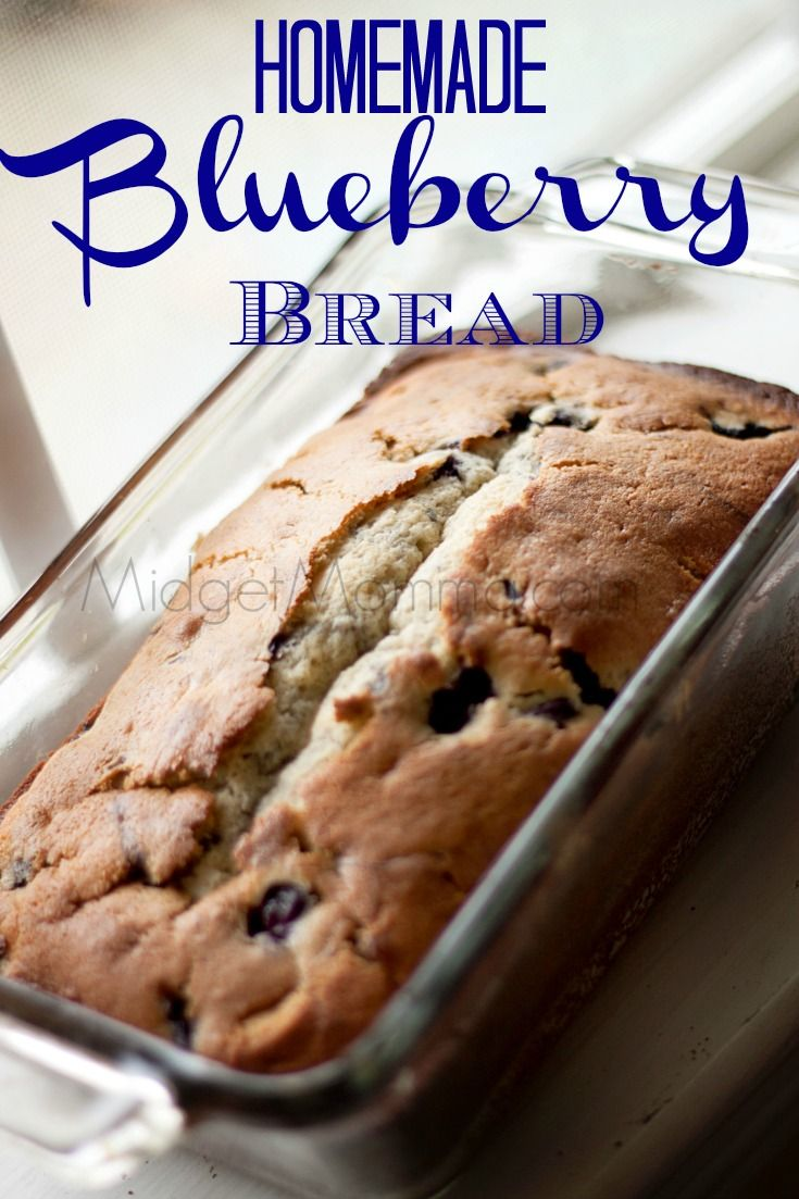 Homemade Blueberry Bread is the perfect breakfast or snack. Made with fresh blueberries this Blueberry Bread is so good that everyone will eat it up fast!