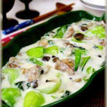 鶏肉とチンゲン菜のクリーム煮