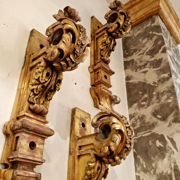 What better way to accentuate that curtain fabric you have chosen than with a set of 4 Regency carved Giltwood curtain pole brackets c.1820....no brainer